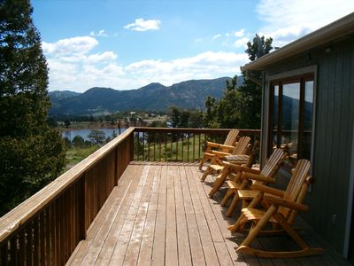 Photo for Lake and Mountain view, Private, Convenient location, Hot tub, WIFI, Theater