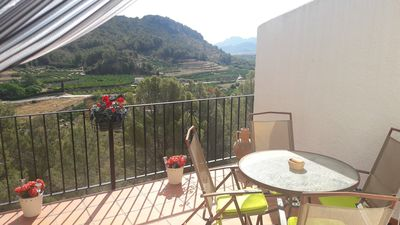 Photo for Fantastic 2 bedroom semi detached villa with stunning views and free WiFi