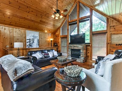 Photo for NEW! Sevierville Cabin w/Views - 1 Mi to Dollywood