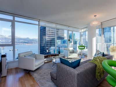 Photo for Vancouver Coal Harbour Executive 2 Bedroom Condo with Spectacular Views