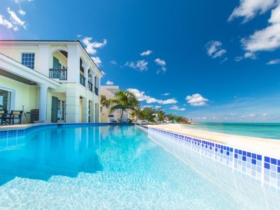 Photo for Luxury Private Villa Beachfront - Infinity Pool Panoramic View Caribbean Ocean
