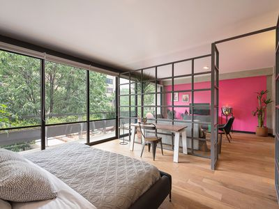 Photo for Treetop oasis studio with terrace in Roma Norte