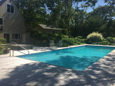 Photo for Resort experience in the Hamptons with huge pool, decks, privacy, and light