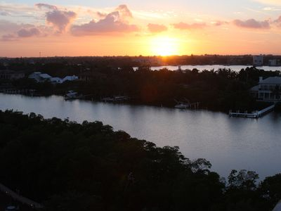 Photo for Beautiful Palm Beach Island with sunsets on the balcony.  90 day minimum stay.