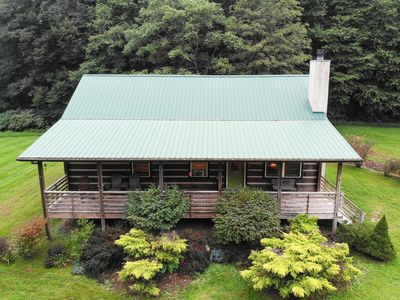 Photo for Cat's Creek Cabin ~ Creek Front Log Cabin, Walk to Golf!