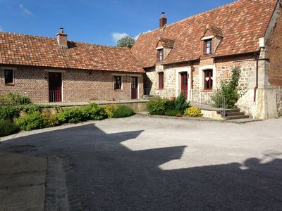 Photo for Cottage with pool at Domaine Du Vieux Chateau in Tingry on the Opal Coast