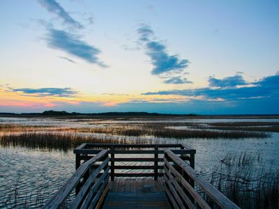 Photo for Gorgeous Sunsets! Private, Ocean-view, Marsh-front Folly Home. Spring dates open