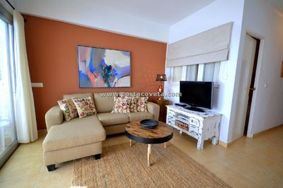 Cosy livingroom, nice decorated in Ibiza style