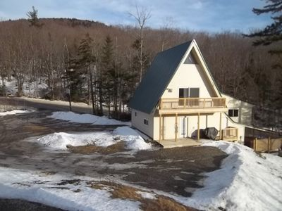 Photo for Large 4 Level Aframe 4 Bedrooms + Loft Sleeps 14Outdoor Hot Tub 1 1/2 min to Mt