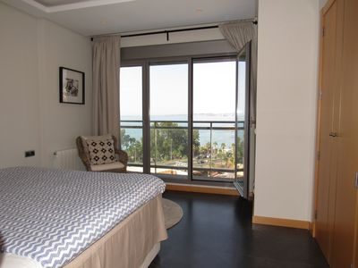 Bedroom with seaviews