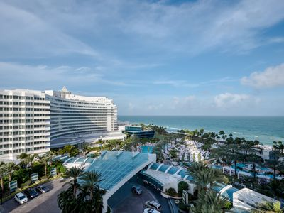 Photo for Fontainebleau Hotel Corner suite w.2 balconies! Free Spa &Valet, No resort fee