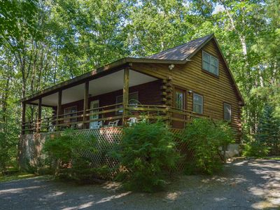 Photo for Classic Log Home in Wooded Setting