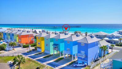 Photo for Adorable Gulf View Beach House 1/2 block from Pier Park!