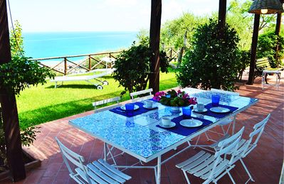 Photo for Beautiful panoramic villa with a wonderful Mediterranean sea-view garden