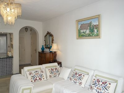 Photo for All Day Sun with 2  Large terraces,  2bed, 2 bath, fabulous views castle, sea