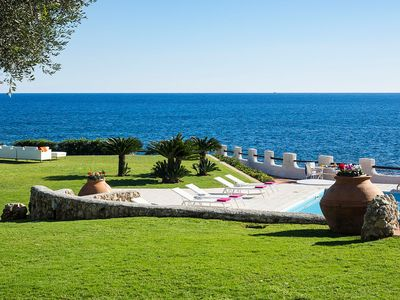 Photo for Private seafront villa with pool