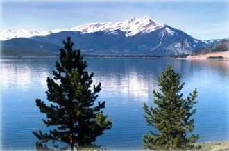 Beautiful Lake Dillon from condo complex