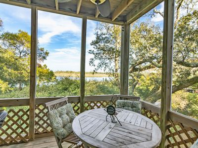 Perfect for a family get away, community pool, and Marsh views