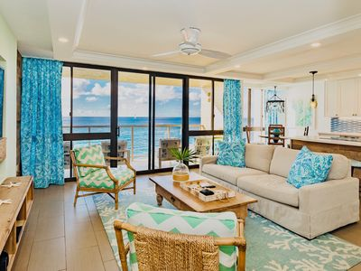 "Photo for Oceanfront Newly Remodeled (3 AC) Condo ""Amazing Ocean Views"" Kuhio Shore 310"