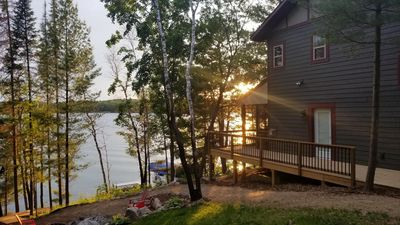 Photo for Pontoon Included - Newly Built Lake Home on Woman Lake