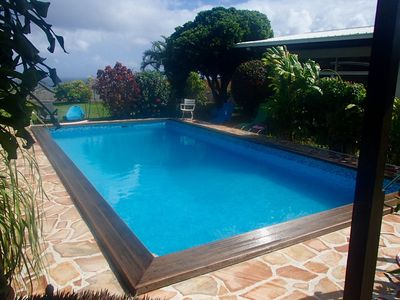 Rent very pretty fare with swimming pool, land and lagoon view - Māhina
