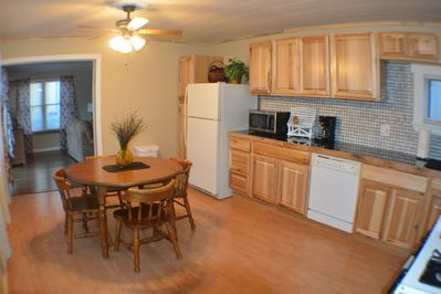 All new full kitchen, BBq steps away on rear deck. PLEASE NO LARGE GROUP PARTYS.