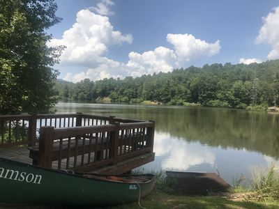 Photo for SPRING SPECIAL !! From $125.00 p/n ! 3 bdrms, 2 bths. Lake access, dock, canoe!