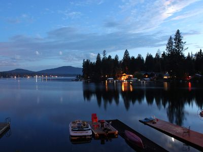 Photo for Stunning Views from Waterfront Cabin on Beautiful Diamond Lake