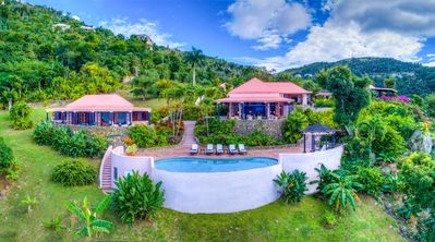 Photo for 1 FREE NIGHT, Canefield House, Breathtaking Views, Tropical Setting, Cool Breeze