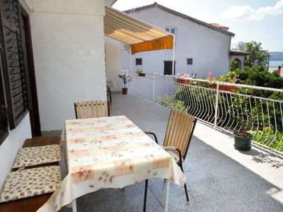Photo for Two bedroom apartment with terrace and sea view Starigrad (Paklenica)