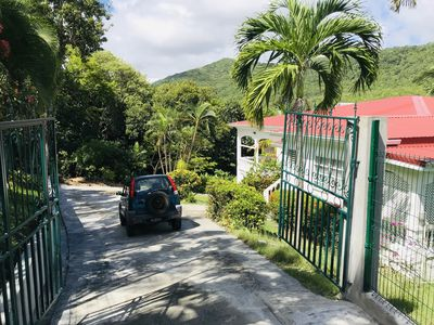 Gated entrance to the property