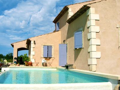 Photo for LUBERON Beautiful air-conditioned provencal house with private pool in the countryside