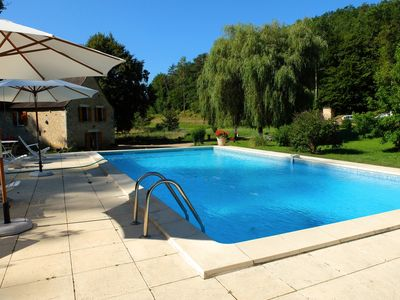 Photo for 7-room 4-bedroom renovated house close to Bergerac, Dordogne with pool and space