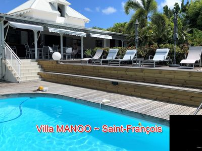 Photo for Creole villa, large garden with trees and a private pool