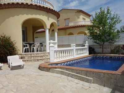 Photo for Villa with private pool for 7 people, 4000m from the beach, private pool