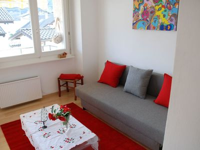 Photo for Cosy apartment for 2 people with WIFI, TV and balcony