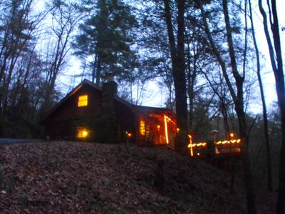 Photo for * Mystic Mountain Hideaway* Fireplace, Hot Tub, Private LOG Cabin, Romantic WIFI