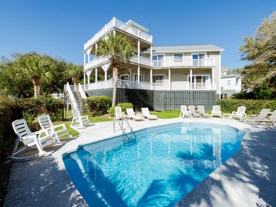 Photo for Newly Renovated- Fabulous & Accommodating Beach Home! Plenty of Space, Private Pool, & Pet Friendly!