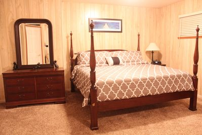 Huge Master Suite Upstairs with Eastern King Four Poster Bed