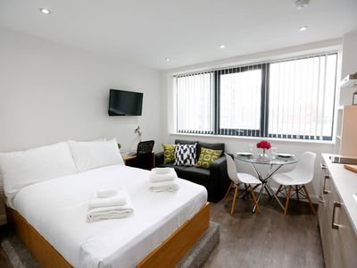 Photo for Upscale Brand New Studio in the Heart of Manchester - Studio Apartment, Sleeps 2