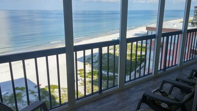 Photo for Condo on the Gulf of Mexico Beach, spacious balcony, breathtaking sunsets