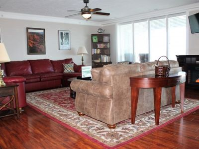 Photo for Luxurious 2bed 2bath Condo, large deck, Gorgeous Lake Views- Pool/Jacuzzi, Silver Dollar City-1mile