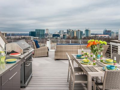 """Photo for """"NASHVIEW"""" Roof Top Deck with City View - Location, Location, Location!"""