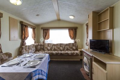 Caravan for hire at Cherry Tree Holiday Park
