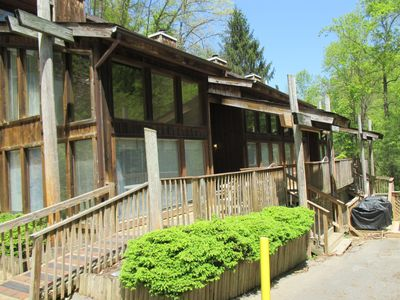 Photo for Spacious Creek Side Townhouse w/ Large Deck, Gas Grill & Free WiFi