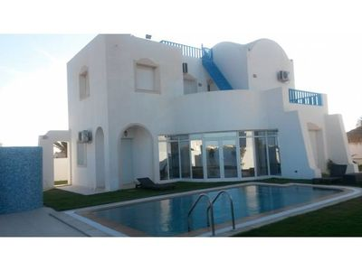 Photo for Luxury villa with pool in Aghir / Djerba sea calm