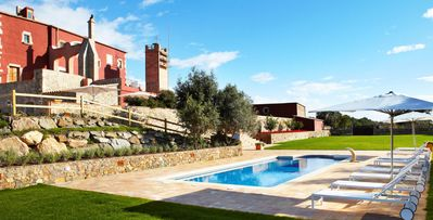 Photo for Mas Torroella, 8-bdrm villa with terraces near Girona, outdoor & indoor pools