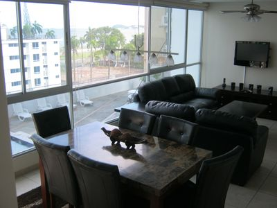 Living Area - View of Causeway in the distance.