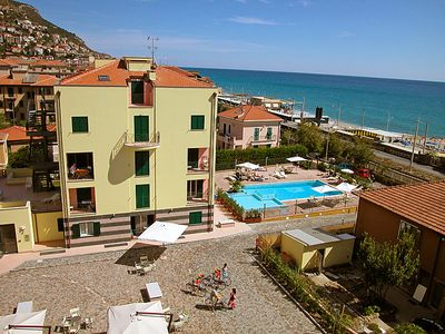 Photo for One bedroom Apartment, sleeps 4 in Borgio with Pool, Air Con and WiFi