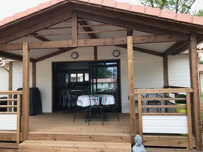 Photo for Air Conditioned Chalet 5 people in residential leisure park